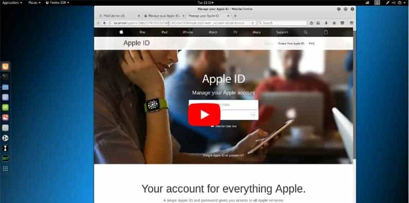 Hur en Apple phishing attack kan se ut